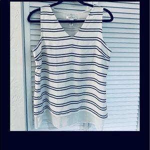 White House Black Market Sleeveless Stripe Tunic